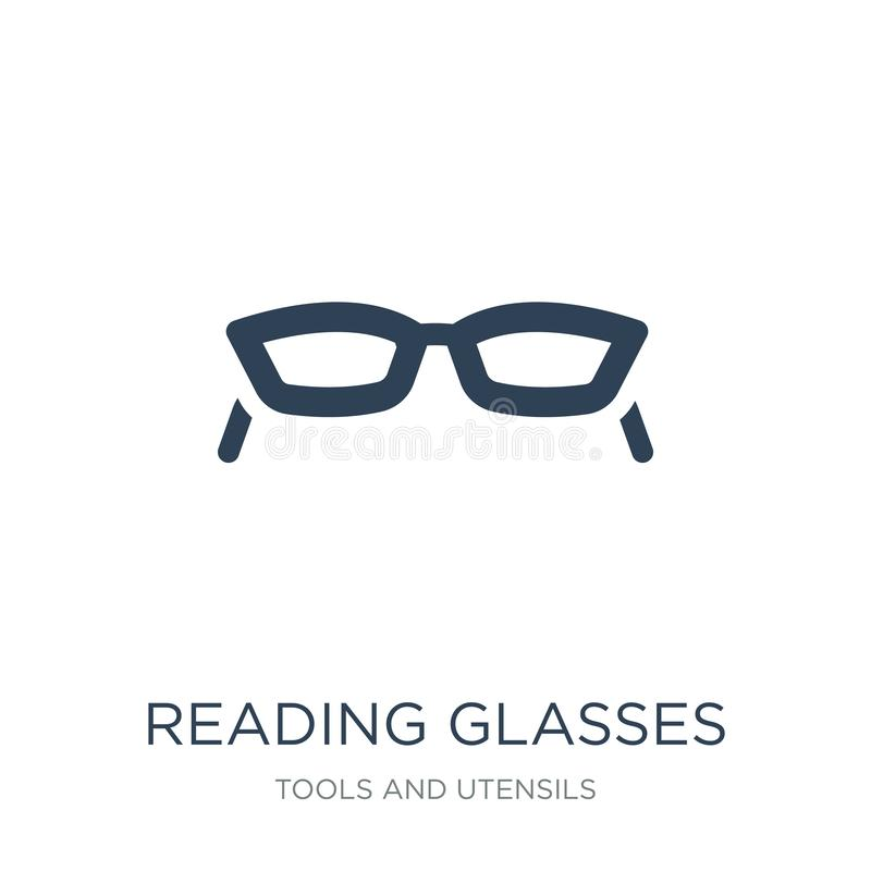 het pictogram van lezingsglazen in in ontwerpstijl Het pictogram van lezingsglazen op witte achtergrond wordt geïsoleerd die het  vector illustratie