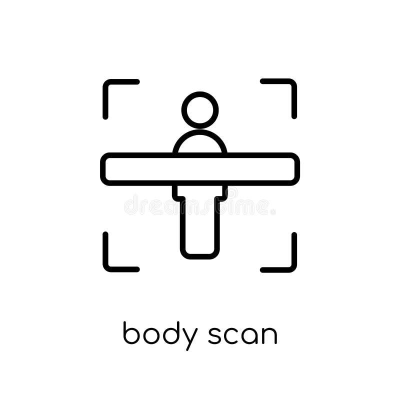 Het pictogram van het lichaamsaftasten  vector illustratie