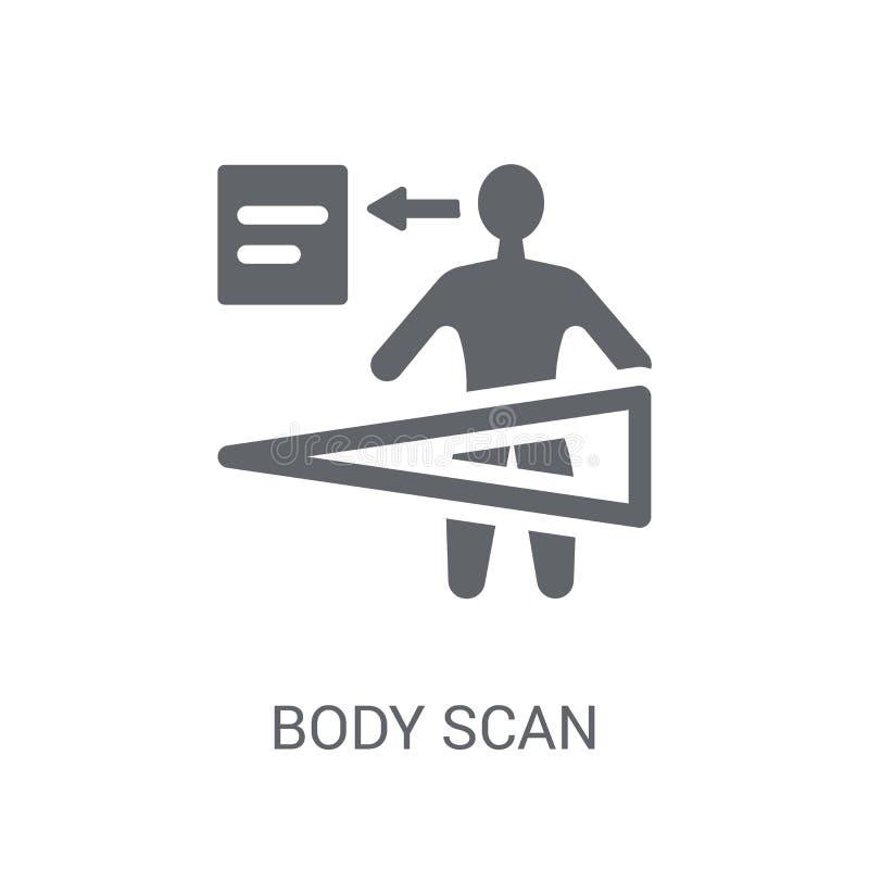 Het pictogram van het lichaamsaftasten  stock illustratie