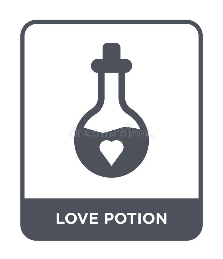 het pictogram van het liefdedrankje in in ontwerpstijl het pictogram van het liefdedrankje op witte achtergrond wordt geïsoleerd  royalty-vrije illustratie