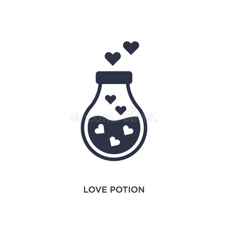 het pictogram van het liefdedrankje op witte achtergrond Eenvoudige elementenillustratie van verjaardagspartij en huwelijksconcep vector illustratie