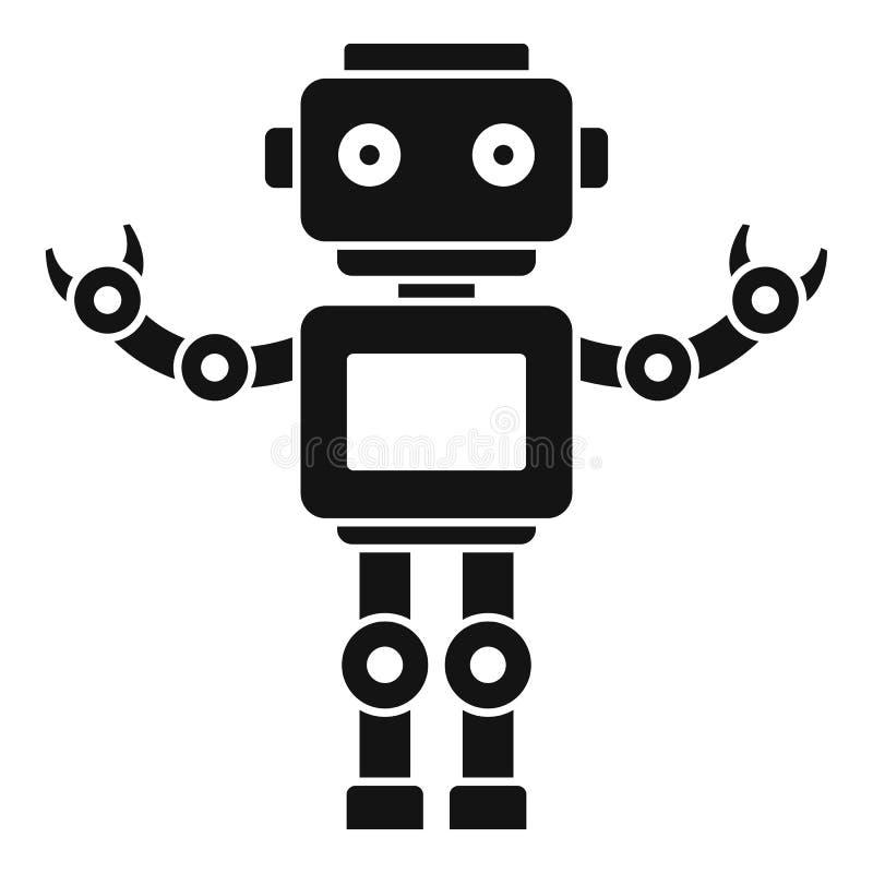 Het pictogram van machinehumanoid, eenvoudige stijl stock illustratie