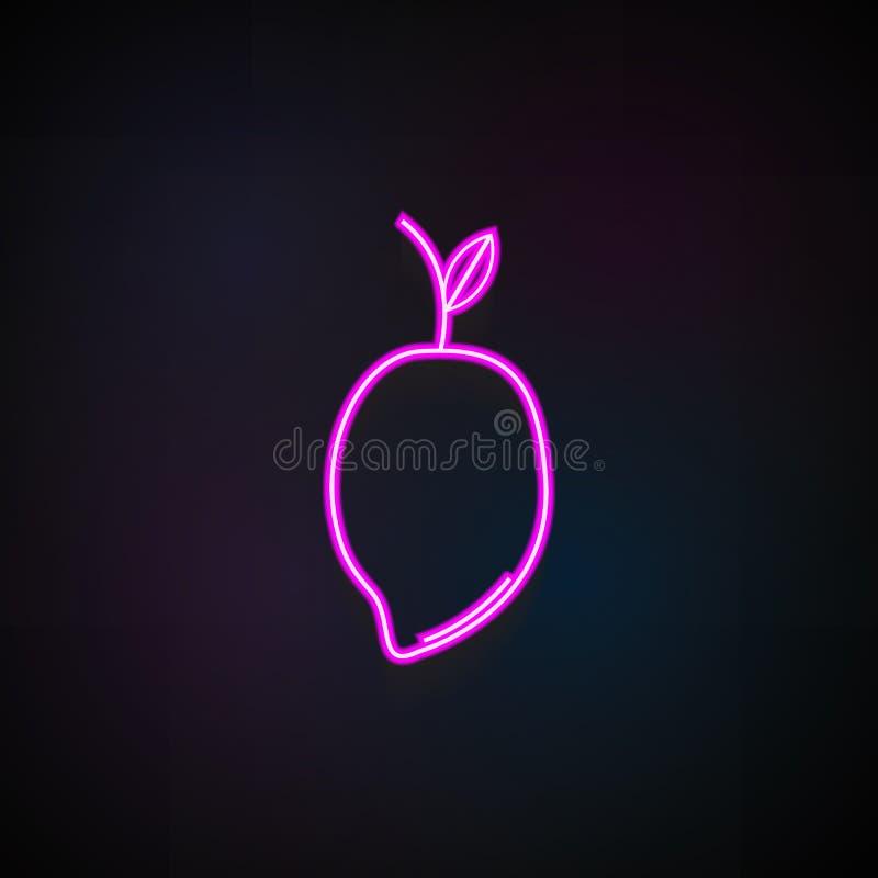 Het pictogram van het mangofruit Element van Fruitpictogrammen voor mobiel concept en Web apps Het het Fruitpictogram van de neon stock illustratie