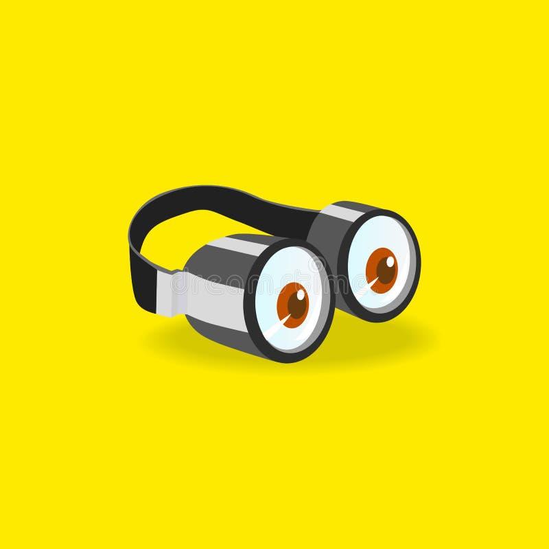 Het pictogram van Minionsbeschermende brillen vector illustratie