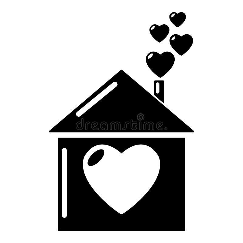 Het pictogram van het moederhuis, eenvoudige stijl vector illustratie