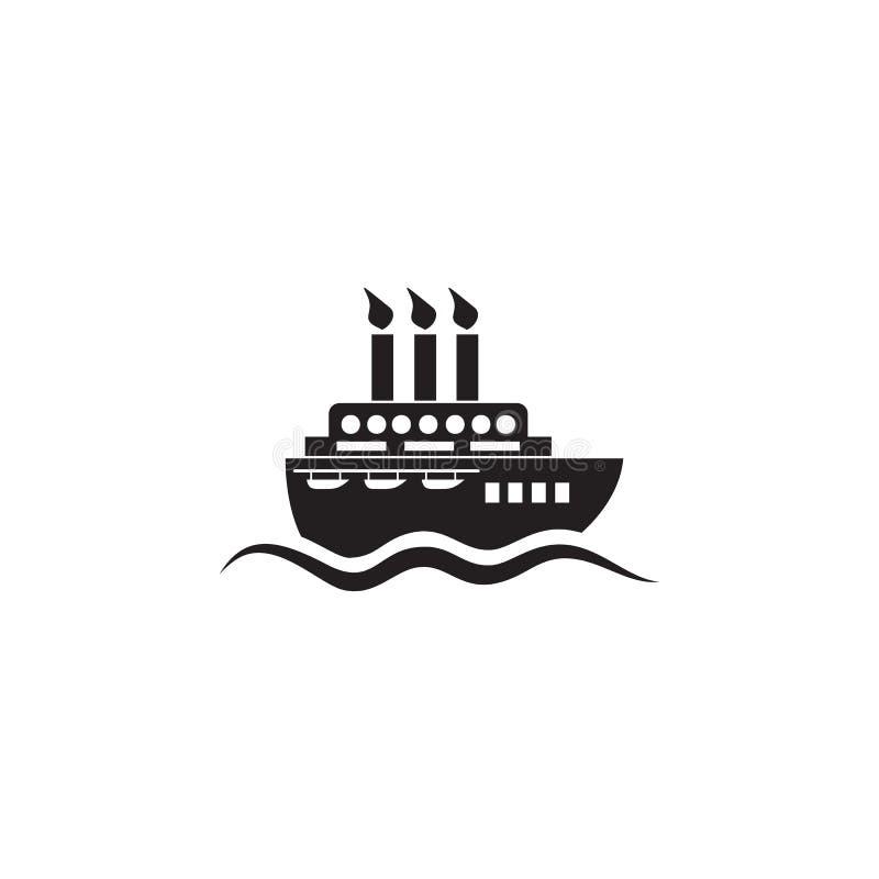 het pictogram van het motorschip Element van schipillustratie Grafisch het ontwerppictogram van de premiekwaliteit Tekens en symb stock illustratie