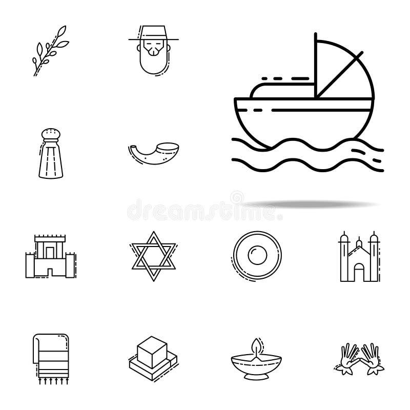 Het pictogram van Mozes Voor Web wordt geplaatst dat en het mobiele algemene begrip van judaïsmepictogrammen stock illustratie
