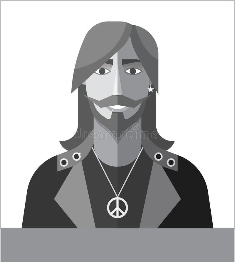 Het pictogram van musicus royalty-vrije illustratie