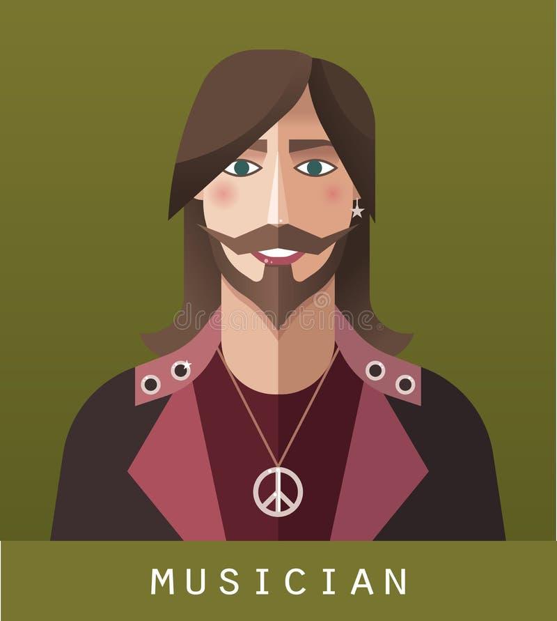 Het pictogram van musicus stock illustratie