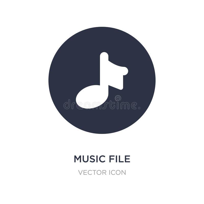Het pictogram van het muziekdossier op witte achtergrond Eenvoudige elementenillustratie van UI-concept royalty-vrije illustratie