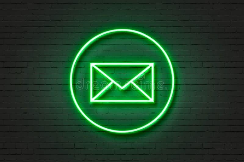 Het pictogram van het neonrode licht het overdrijven stock foto's