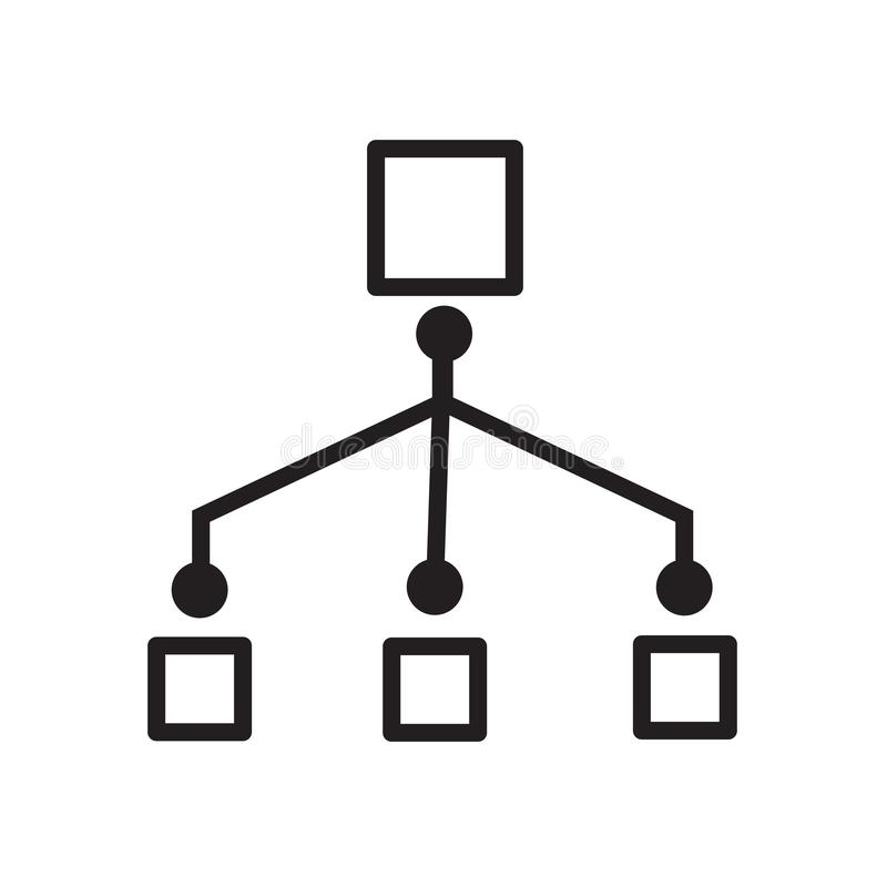 het pictogram van het netwerkwerkschema royalty-vrije illustratie