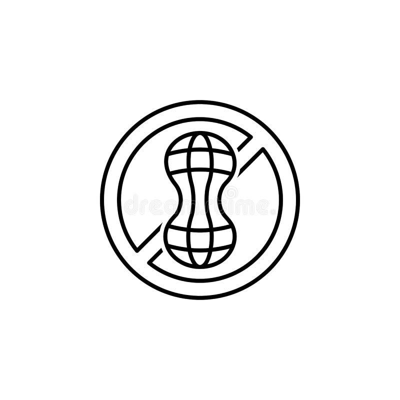 het pictogram van het nootoverzicht Elementen van dieet en voedingsillustratiepictogram Tekens en het pictogram van de symboolinz royalty-vrije illustratie
