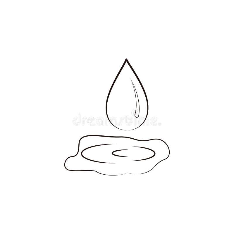 Het pictogram van het olijfolieembleem Element van oliepictogram voor mobiel concept en Web apps Kan het hand getrokken pictogram royalty-vrije illustratie