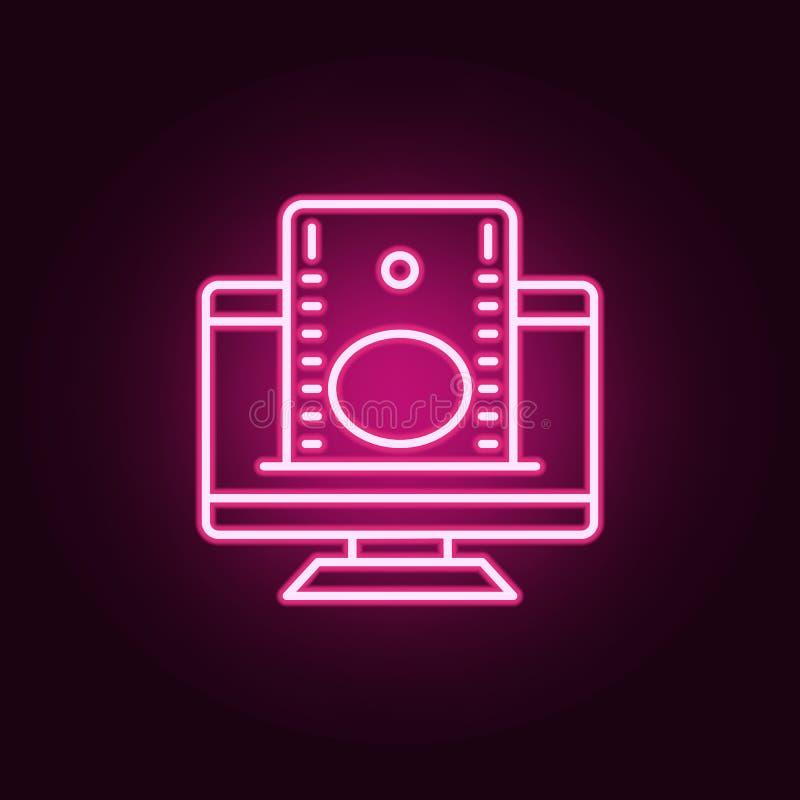 het pictogram van het online bankierenneon Elementen van Bankwezenreeks Eenvoudig pictogram voor websites, Webontwerp, mobiele to stock illustratie