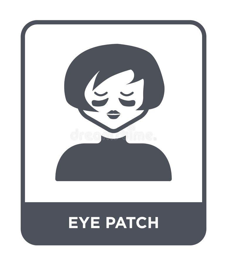 het pictogram van het oogflard in in ontwerpstijl Het pictogram van het oogflard op witte achtergrond wordt geïsoleerd die vector stock illustratie