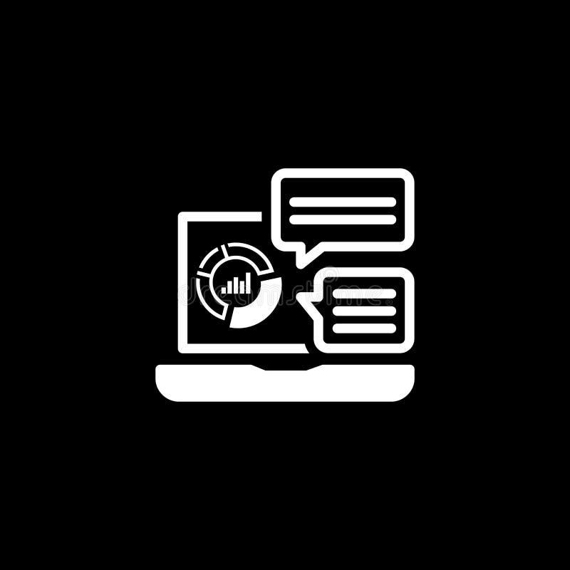 Het Pictogram van opslaganalytics Vlak Ontwerp royalty-vrije illustratie