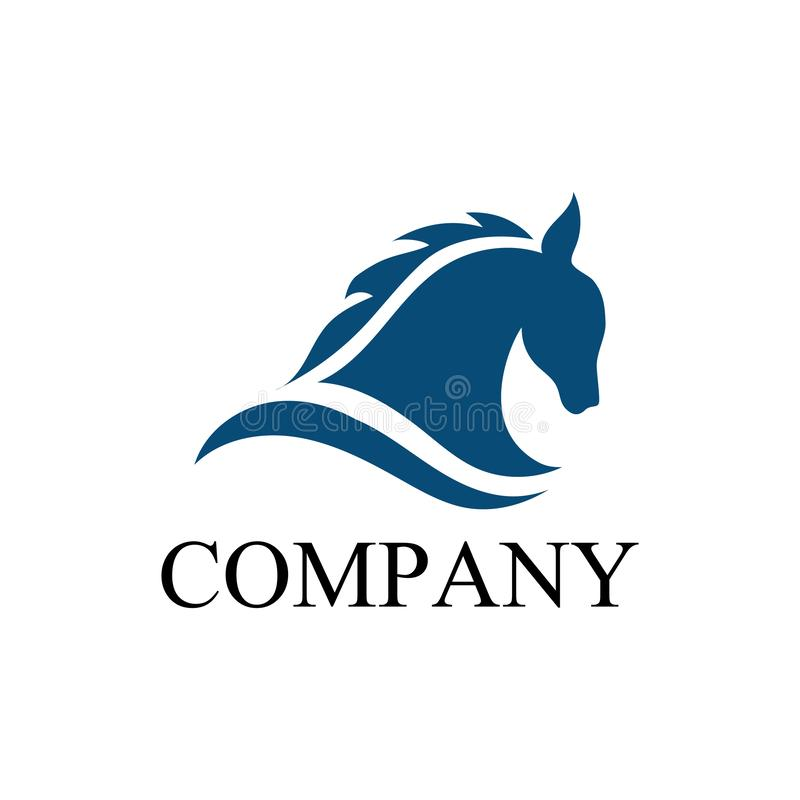 Het pictogram van paardlogo template vector stock illustratie