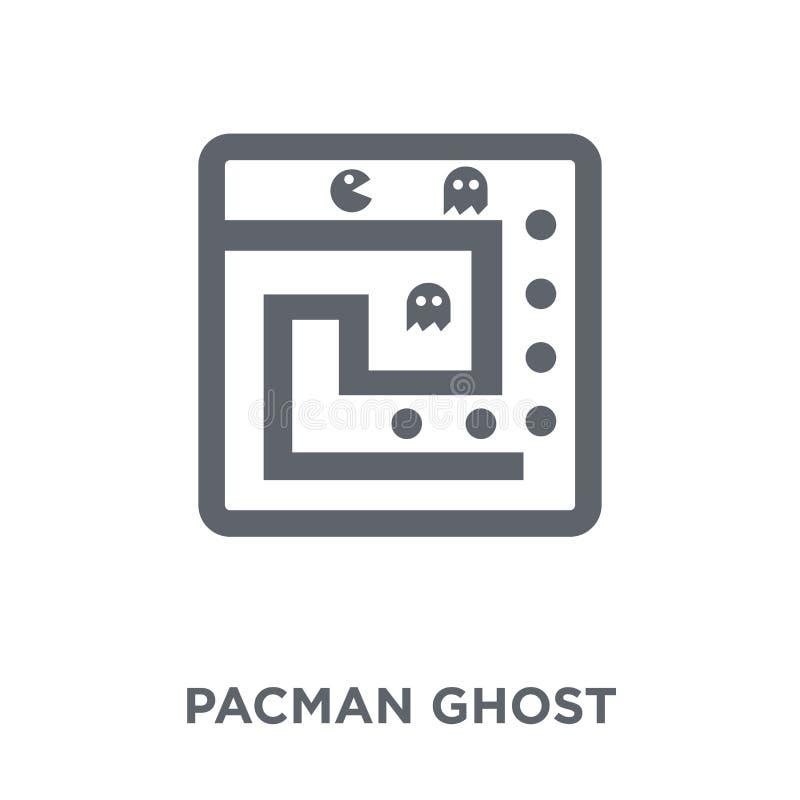 Het pictogram van het Pacmanspook van Vermaakinzameling stock illustratie