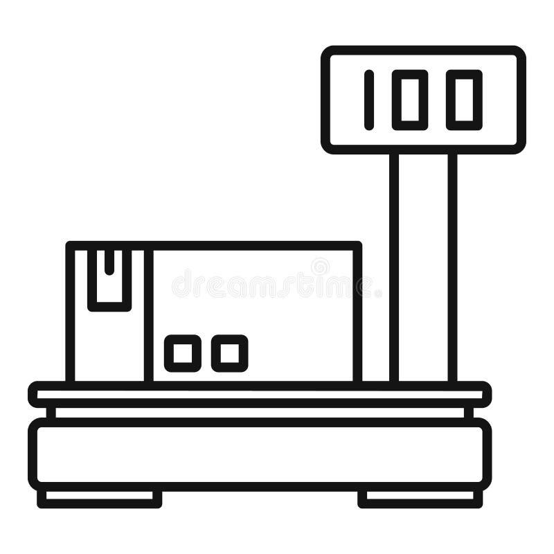 Het pictogram van pakhuisschalen, overzichtsstijl vector illustratie