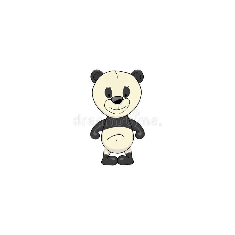 Het pictogram van het pandabeeldverhaal royalty-vrije illustratie