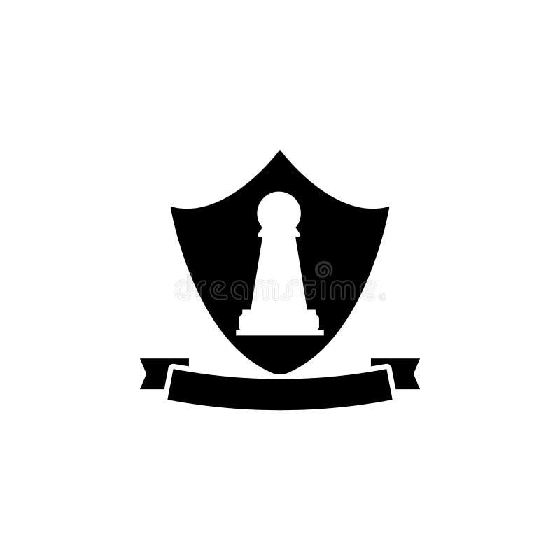 Het pictogram van het pandembleem Element van schaak voor mobiele concept en Web apps illustratie Dun lijnpictogram voor websiteo royalty-vrije illustratie
