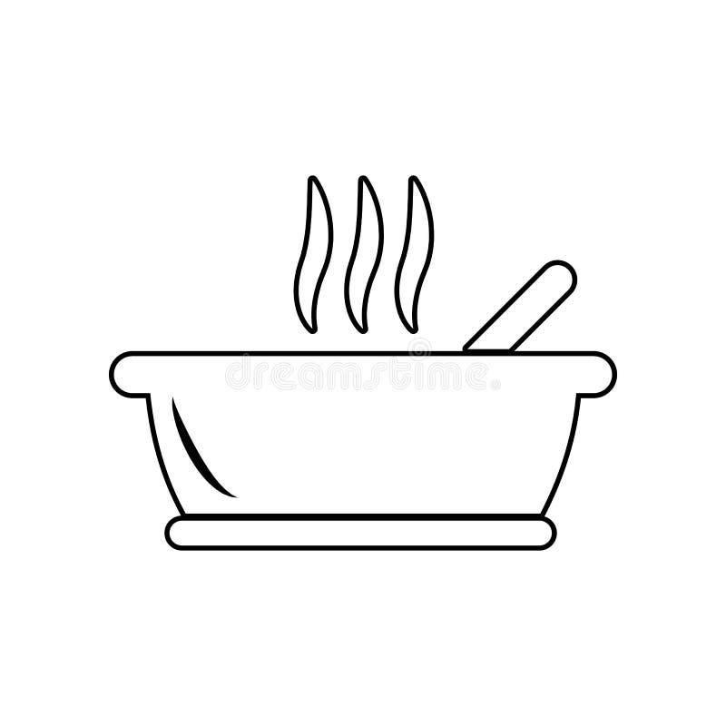 Het pictogram van het panteken Element van het eten voor mobiel concept en webtoepassingenpictogram Overzicht, dun lijnpictogram  vector illustratie