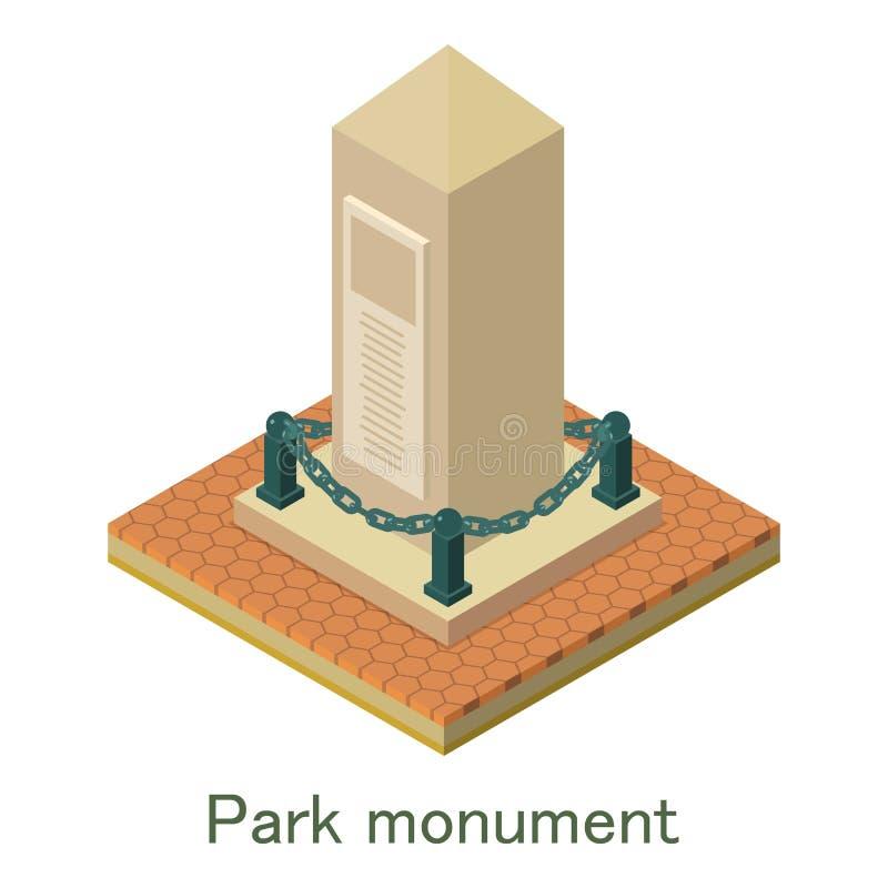 Download Het Pictogram Van Het Parkmonument, Isometrische Stijl Vector Illustratie - Illustratie bestaande uit bank, voorwerp: 107707653