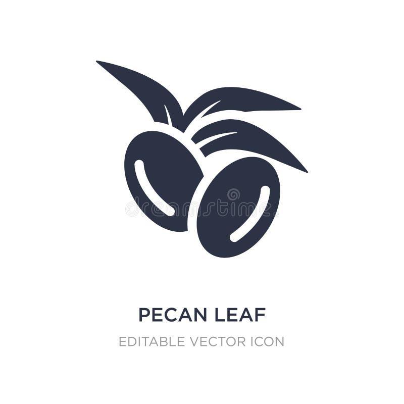 het pictogram van het pecannootblad op witte achtergrond Eenvoudige elementenillustratie van Aardconcept royalty-vrije illustratie