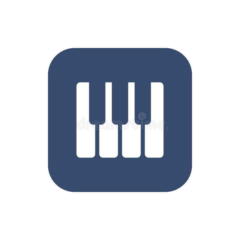 Het pictogram van pianosleutels royalty-vrije illustratie
