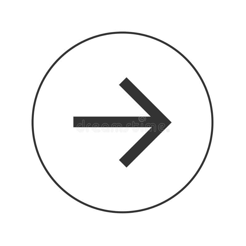 Het pictogram van het pijlweb stock foto