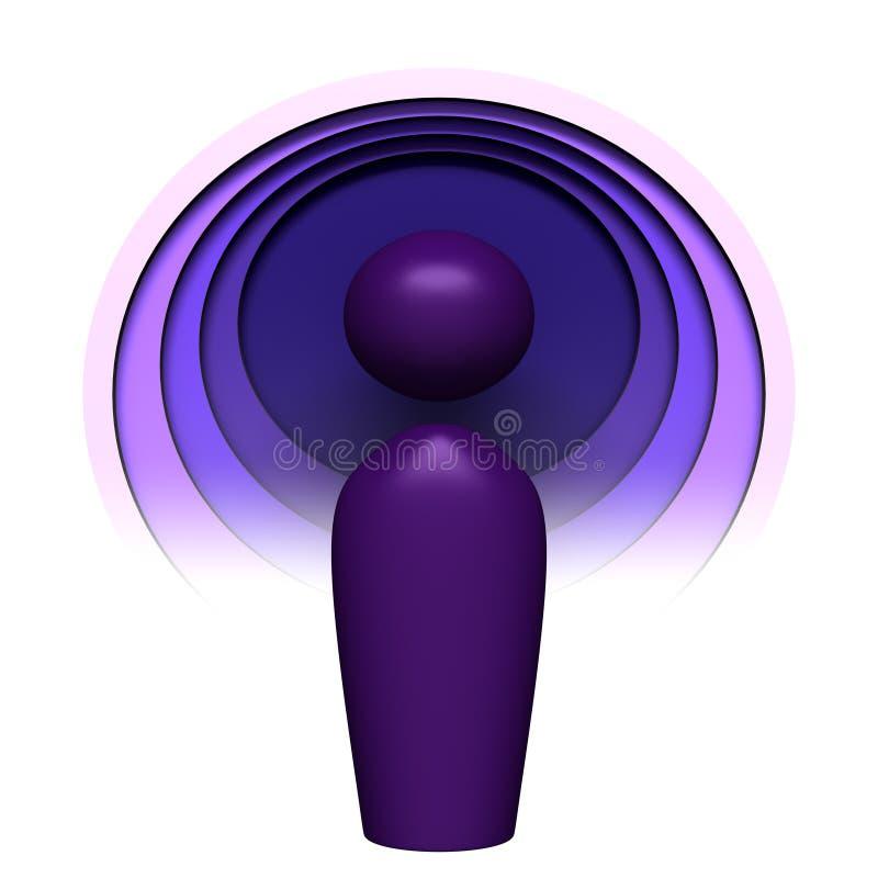 Het pictogram van Podcast vector illustratie