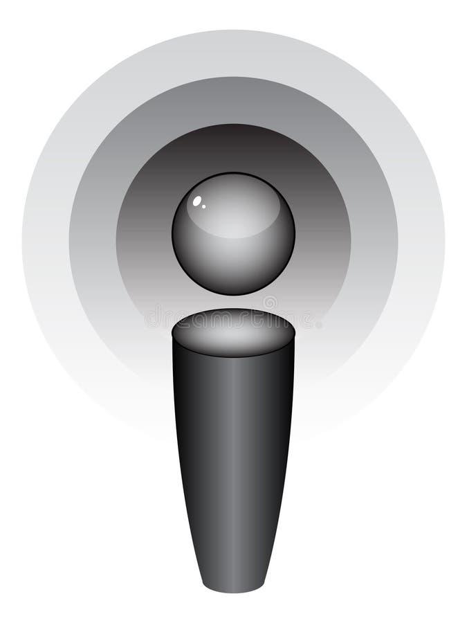 Het pictogram van Podcast royalty-vrije illustratie