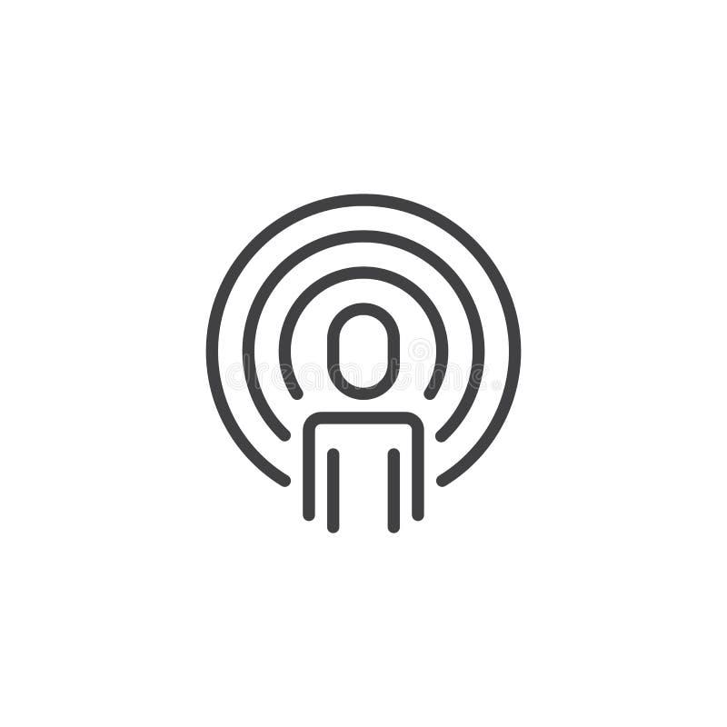 Het pictogram van het Podcastoverzicht royalty-vrije illustratie
