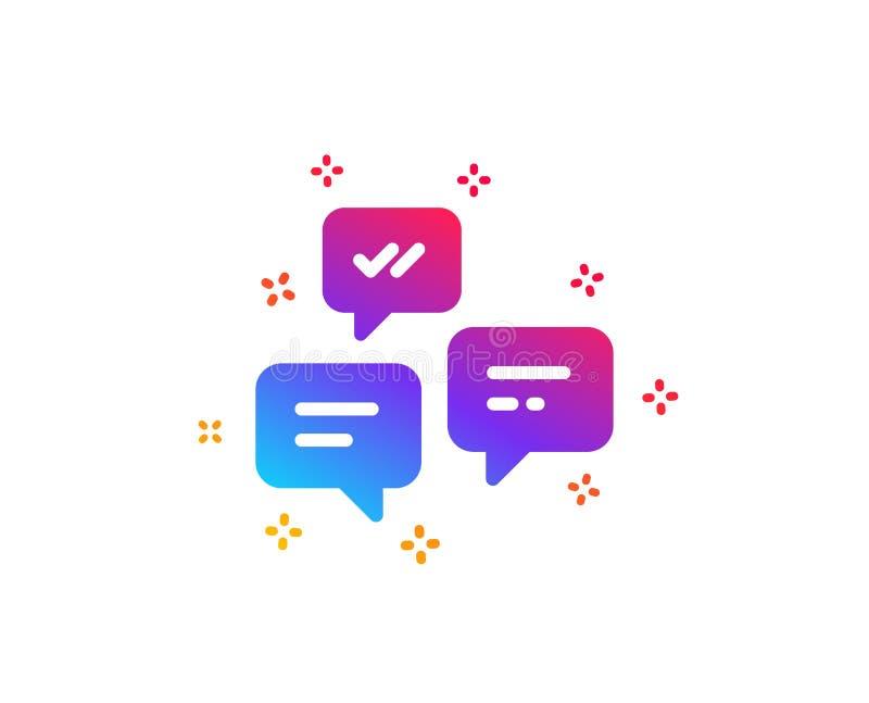 Het pictogram van praatjeberichten Gesprek of SMS Vector vector illustratie