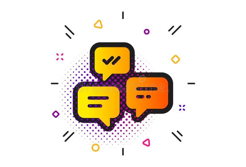 Het pictogram van praatjeberichten Gesprek of SMS Vector royalty-vrije illustratie