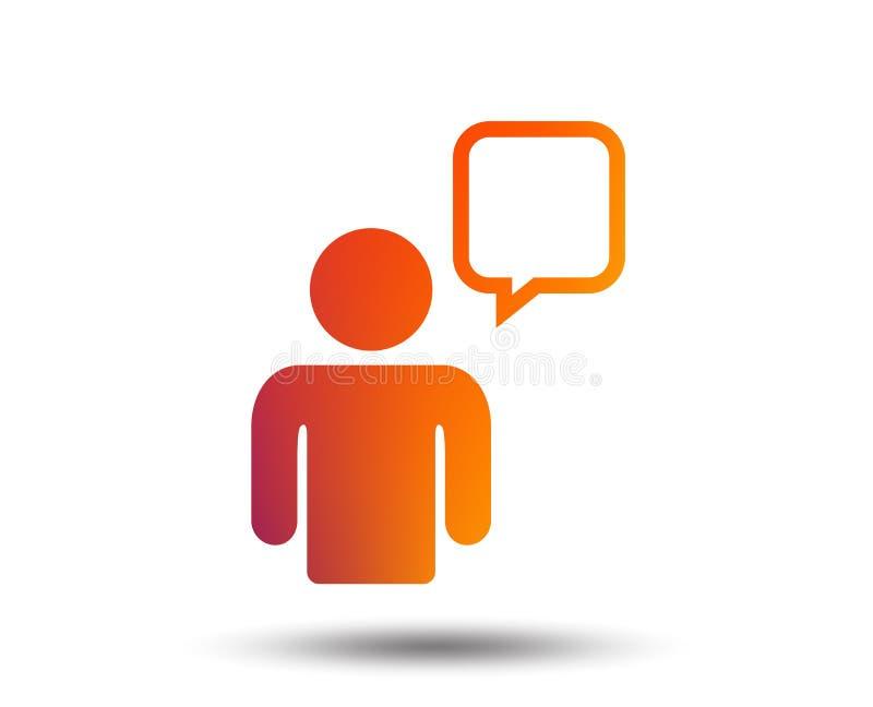 Het pictogram van het praatjeteken Het symbool van de toespraakbel vector illustratie