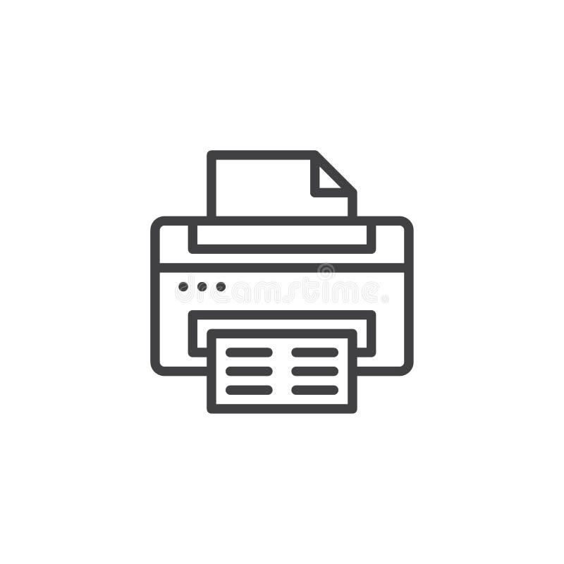 Het pictogram van het printeroverzicht royalty-vrije illustratie
