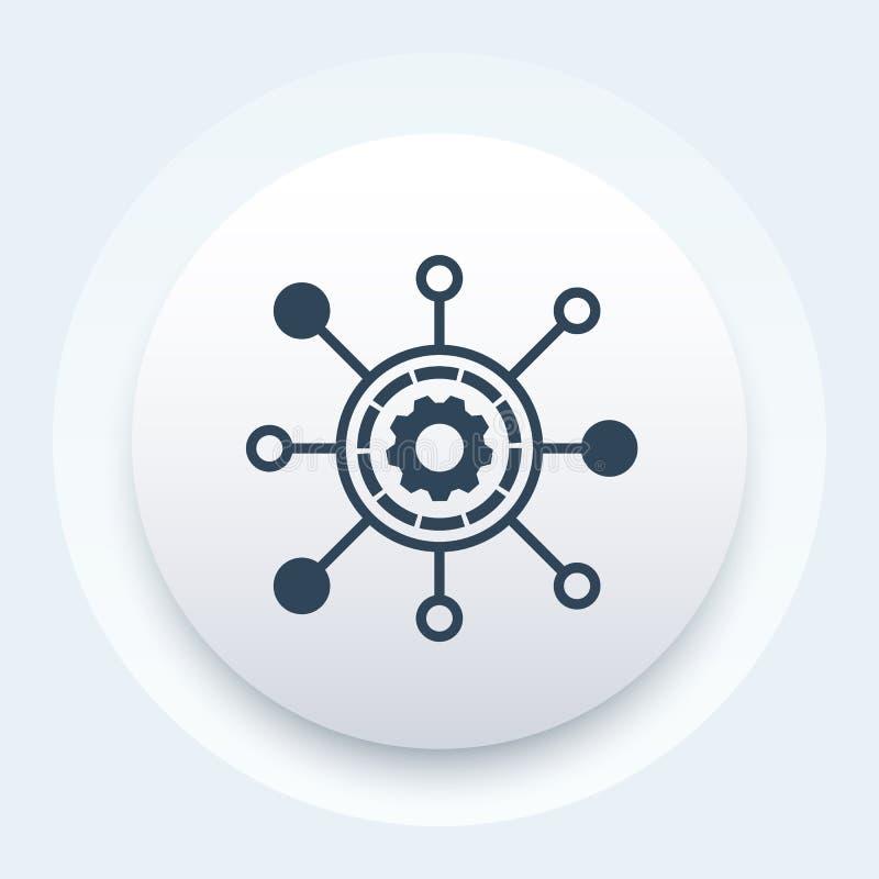 Het pictogram van het productieproces stock illustratie