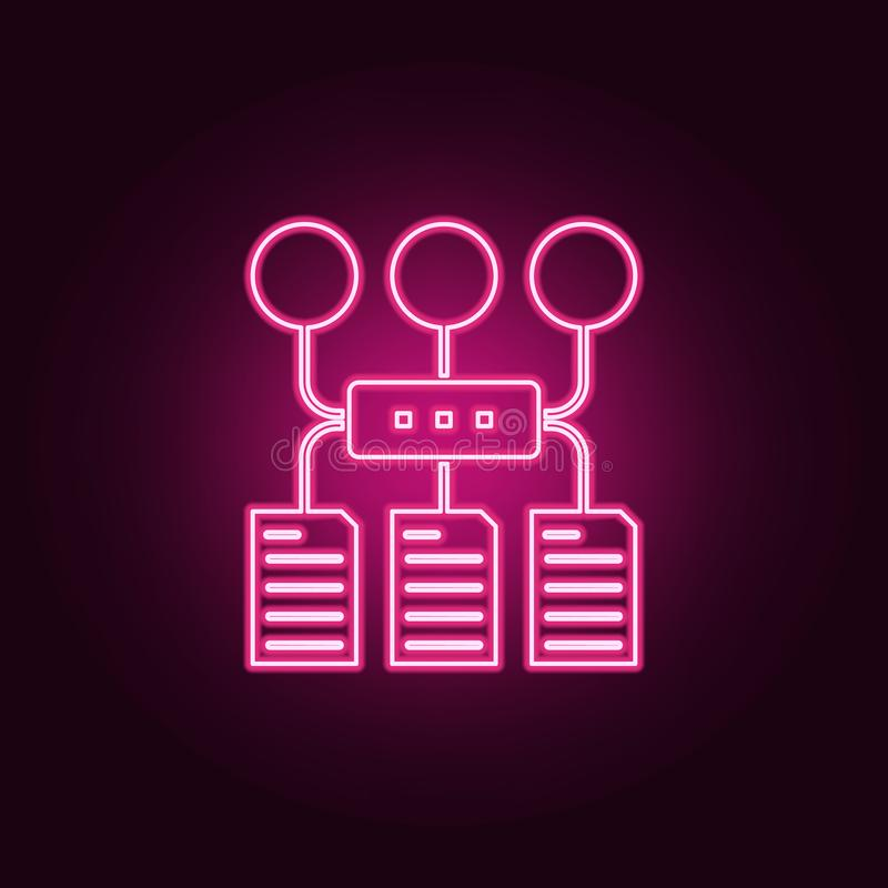 Het pictogram van het programmaalgoritme E Eenvoudig pictogram voor websites, Webontwerp, mobiele toepassing, informatie royalty-vrije illustratie