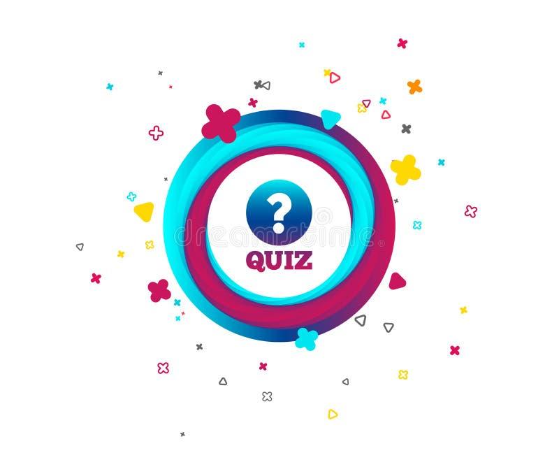Het pictogram van het quizteken Vragen en antwoordenspel royalty-vrije illustratie
