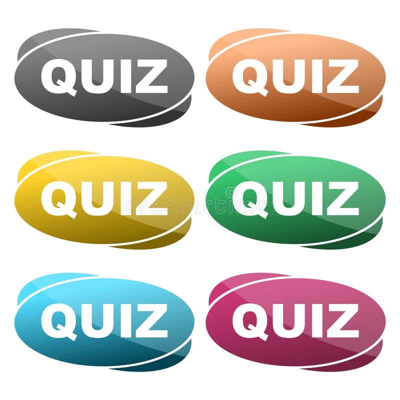 Het pictogram van het quizteken Vragen en antwoordenspelsymbool vector illustratie