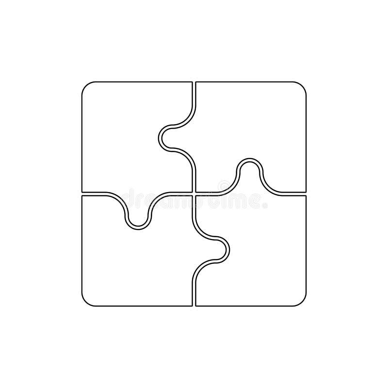 Het pictogram van het raadseloverzicht De tekens en de symbolen kunnen voor Web, embleem, mobiele toepassing, UI, UX worden gebru royalty-vrije illustratie