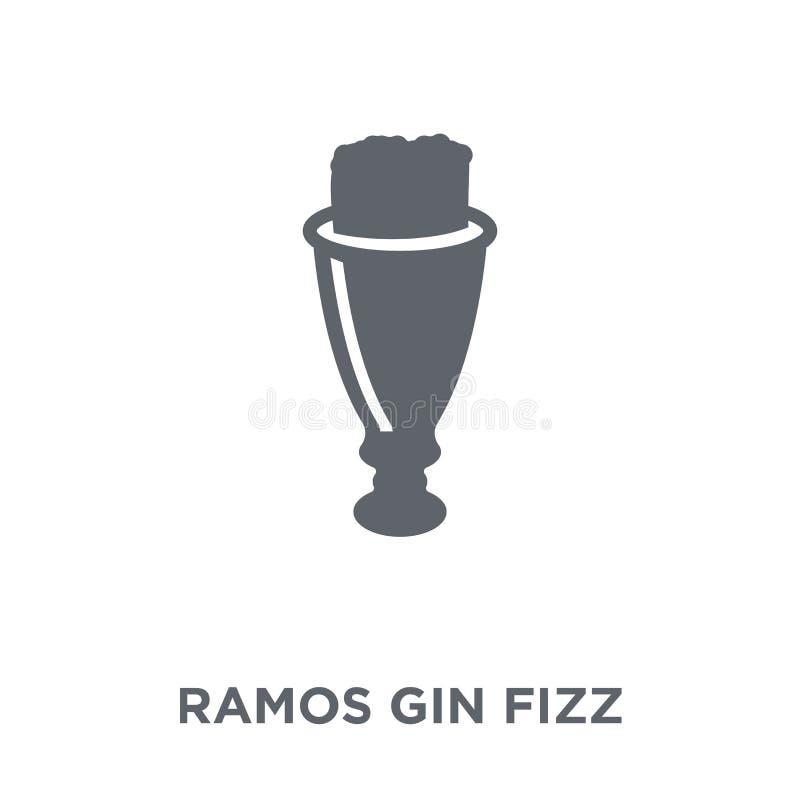 Het pictogram van Ramos Gin Fizz van Drankeninzameling royalty-vrije illustratie