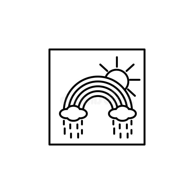 Het pictogram van het regenboogoverzicht Element van het pictogram van het landschapsoverzicht voor mobiel concept en Web apps He vector illustratie