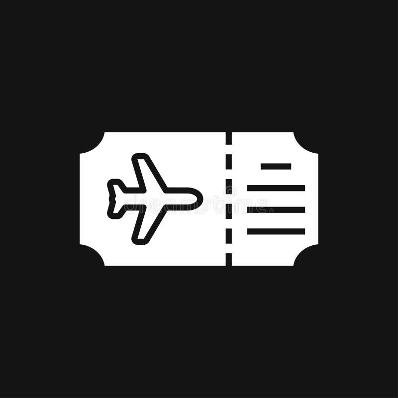 Het pictogram van reisdocumenten, paspoort met ge?soleerd kaartjes vlak pictogram Conceptenreis en toerisme stock illustratie