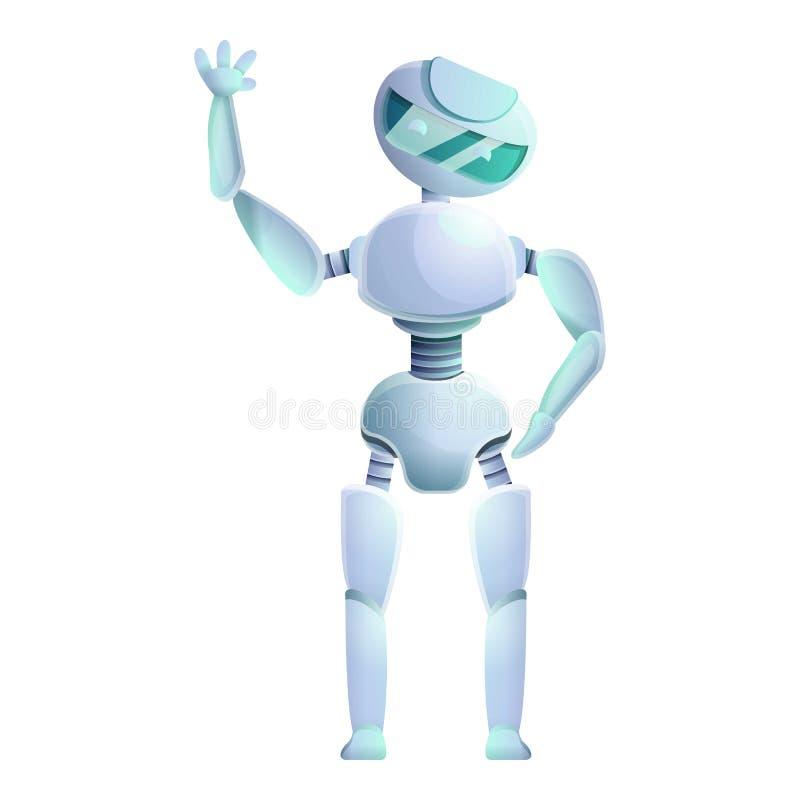 Het pictogram van robothumanoid, beeldverhaalstijl stock illustratie