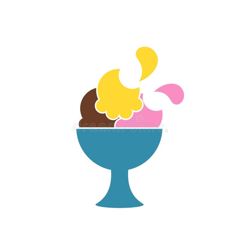Het pictogram van het roomijs dranksymbool Voedselembleem eps 08 stock fotografie