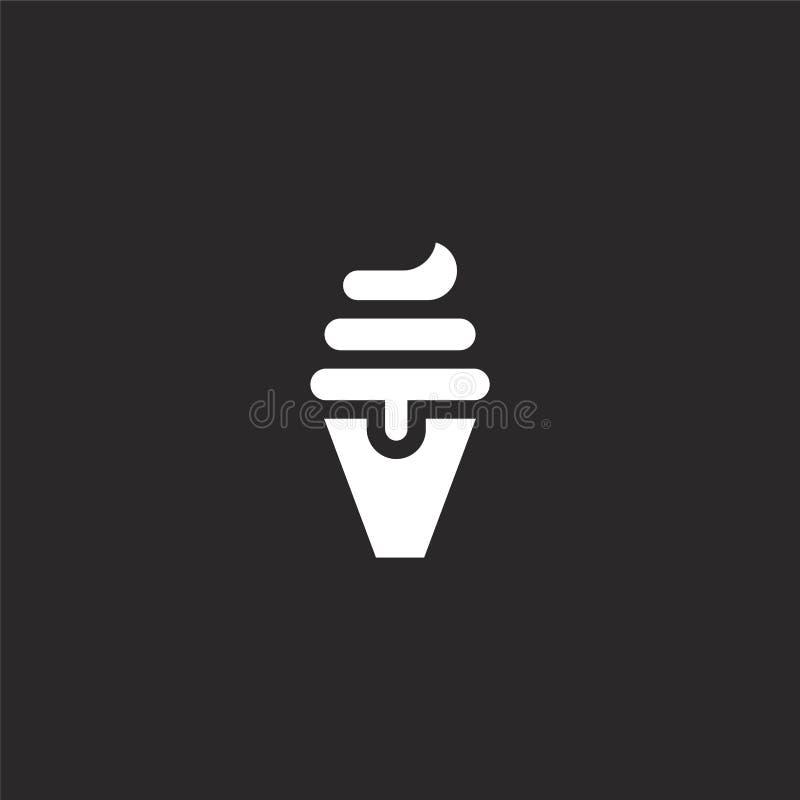 Het pictogram van het roomijs Gevuld roomijspictogram voor websiteontwerp en mobiel, app ontwikkeling roomijspictogram van de gev stock illustratie