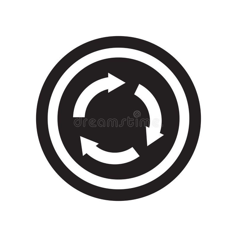 Het pictogram van het rotondeteken  stock illustratie